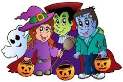 Free Halloween Trick Or Treat Characters Royalty Free Stock Images - 20285609