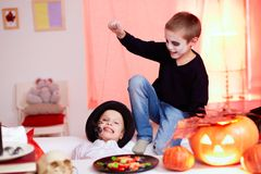 Halloween trick Royalty Free Stock Images