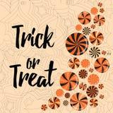 Halloween trick or treat banner cute design royalty free illustration