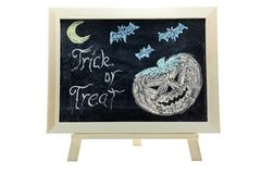 Halloween trick or treat drawing Stock Image