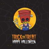 Halloween Trick or Treat Frankenstein Costume Royalty Free Stock Photo