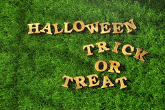 Halloween and Trick or Treat on grass background, nature concept Royalty Free Stock Photography