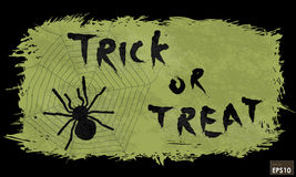 Halloween trick or treat message. On background, for Halloween celebrations Royalty Free Stock Photo