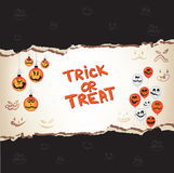 Halloween trick or treat paper Royalty Free Stock Photo