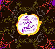 Halloween trick or treat paper Stock Photos