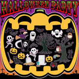 Halloween. Trick or treat halloween party cute night Royalty Free Stock Images