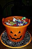 Halloween Trick Or Treat Pumpkin Bucket Royalty Free Stock Photos