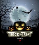 Halloween trick or treat pumpkin Stock Photo