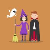 Halloween. Trick or treat set. Flat  illustration set Stock Photography