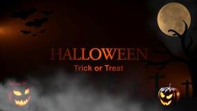 Halloween Trick or Treat. Halloween Spooky Video Animation - 4K Resolution Ultra HD UHD stock video footage