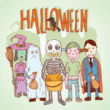 Halloween trick or treat. vector illustration. Royalty Free Stock Image