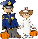 Halloween Trick or treaters Stock Image
