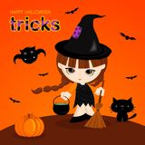 Halloween-Tricks stock abbildung