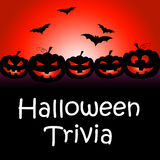 Halloween Trivia Represents Trick Or Treat And Answer Stock Photography