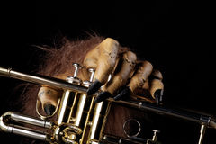 Halloween Trumpet Monster Hand Royalty Free Stock Photos