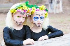 Halloween twin sisters Stock Image