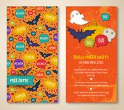 Halloween two sides poster or flyer. Stock Images