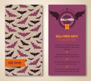 Halloween two sides poster or flyer. Stock Image