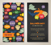 Halloween two sides poster or flyer. Stock Photos
