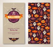 Halloween two sides poster or flyer. Royalty Free Stock Images