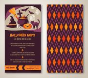 Halloween two sides poster or flyer. Royalty Free Stock Photography