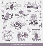 Halloween-type ontwerpreeks Stock Afbeeldingen