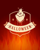 Halloween Typographic Design Vector Background Stock Photo