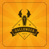Halloween Typographic Design Vector Background Royalty Free Stock Photos