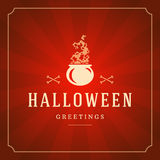 Halloween Typographic Design Vector Background Stock Images