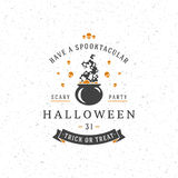Halloween Typographic Design Vector Background Royalty Free Stock Image