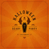 Halloween Typographic Design Vector Background Stock Image