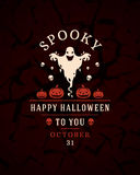 Halloween Typographic Design Vector Background and Royalty Free Stock Photography