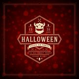 Halloween Typographic Greeting Card Design Vector Background. Stock Photography