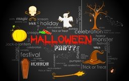 Halloween Typography Royalty Free Stock Image