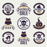 Halloween typography badges. Stock Images