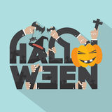 Halloween Typography Design. Stock Images