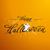 Halloween Typography  with funny ghost Royalty Free Stock Image