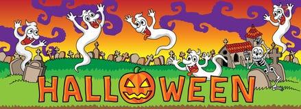 Halloween u. x28; evening& x29; Lizenzfreies Stockfoto