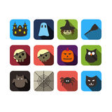 Halloween ui flat design Royalty Free Stock Images
