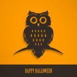 Halloween-Uil Royalty-vrije Stock Afbeeldingen