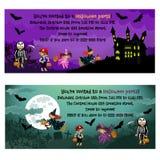 Halloween-uitnodigingen stock illustratie