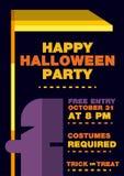 Halloween-Uitnodigingsbrochure, Boodschapper van doodsthema Royalty-vrije Stock Fotografie