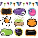 Halloween-Uitnodigingskaders Royalty-vrije Stock Afbeeldingen