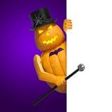 Halloween-uitnodigingsspatie Stock Foto's