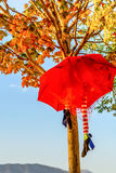Halloween  Umbrella Decoration. In Montenegro Royalty Free Stock Images
