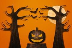 Halloween und Dekorationskonzept Stockfoto