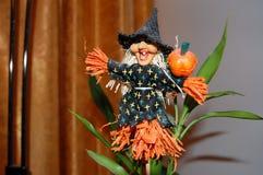 Halloween und die Hexe Stockbilder