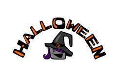 Halloween und Hexe Komische Farbe der Karikatur lizenzfreie abbildung
