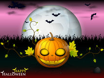 Halloween under the pink sky Royalty Free Stock Photos