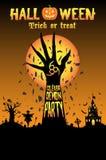 Halloween unleash the demon party. A Halloween unleash the demon party Stock Photography
